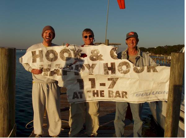 Keith, Jon & Stone with Flotsam recovered in the Gulf.