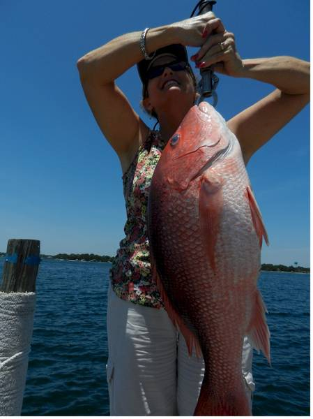 Candy's 1st Red Snapper of 2012